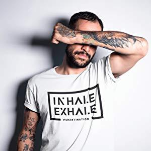 """***T-shirt von Weed /""""Buddha/"""" weiß//blau size S-M Yoga Buddhismus Neuware***"""