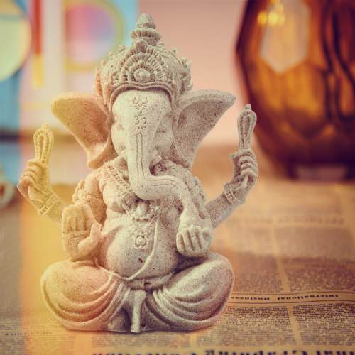 Gott Ganesha Figur hinduistische Gottheit Elefantengott Skulptur Veronese neu